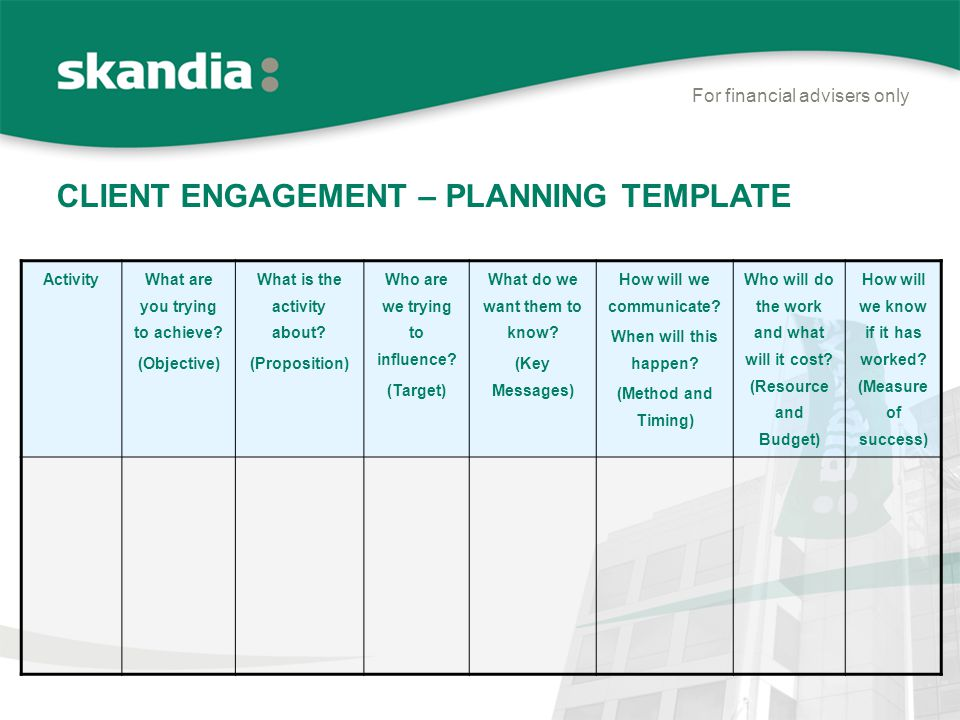 client service plan template - for financial advisers only ppt video online download