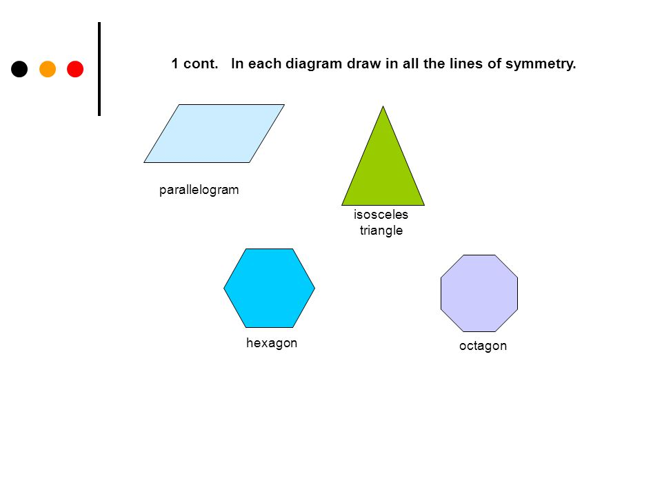 Line symmetry geometry ppt video online download in each diagram draw in all the lines of symmetry ccuart Images