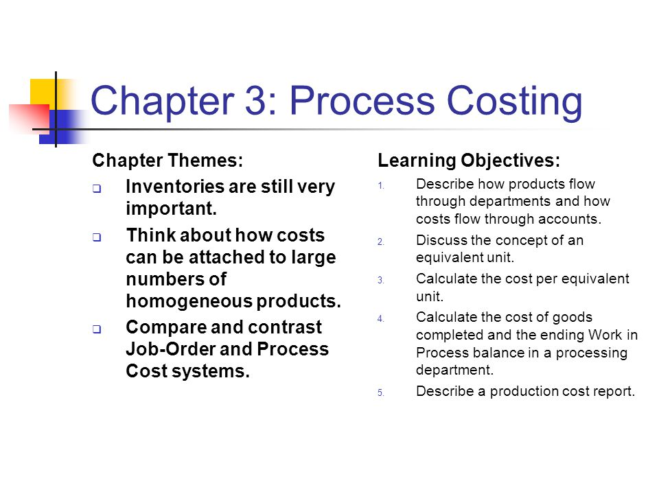 Chapter 3: Process Costing