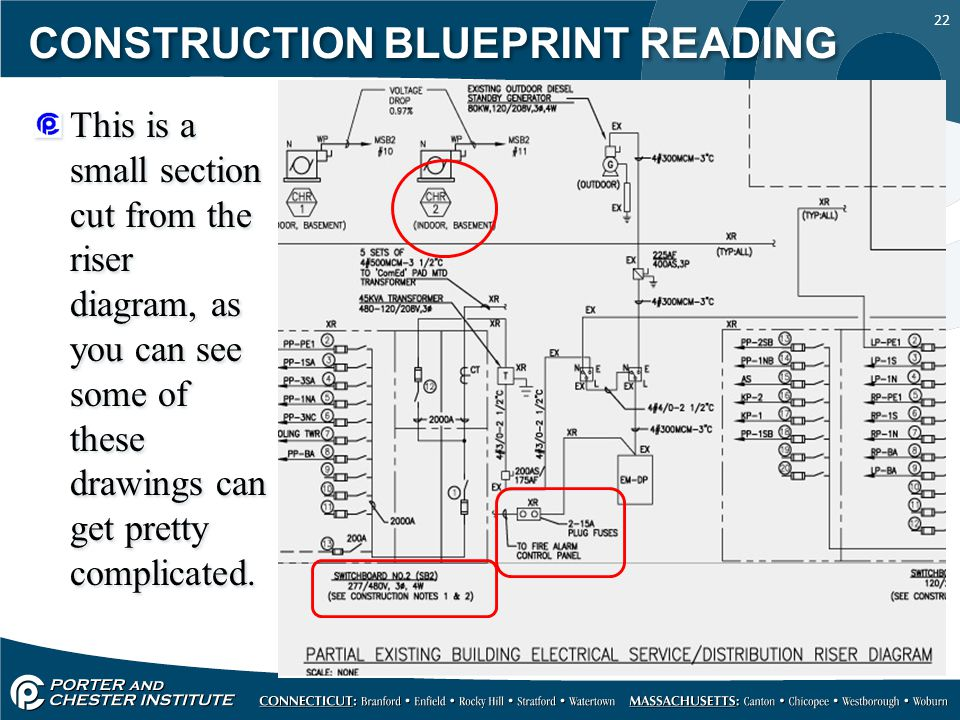Residential electrical riser diagram 36 wiring diagram for How to read construction blueprints