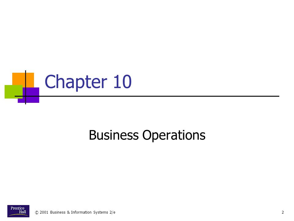 Chapter Business Operations