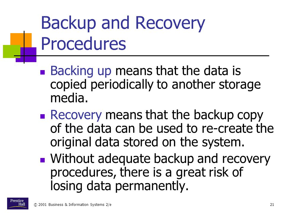 Backup and Recovery Procedures