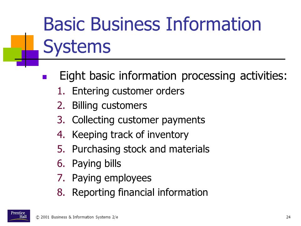 Basic Business Information Systems