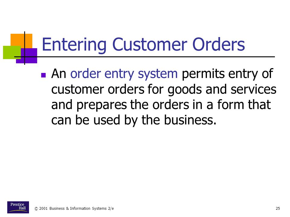 Entering Customer Orders