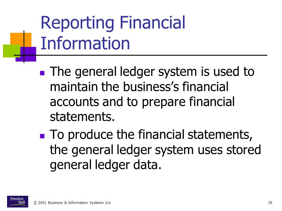 Reporting Financial Information