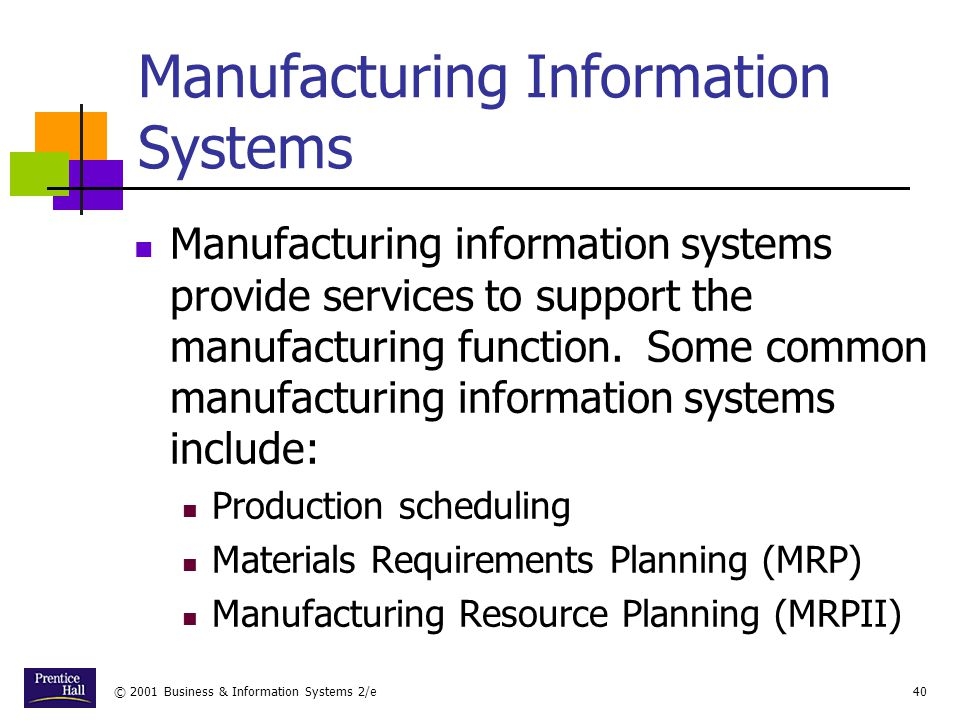 Manufacturing Information Systems