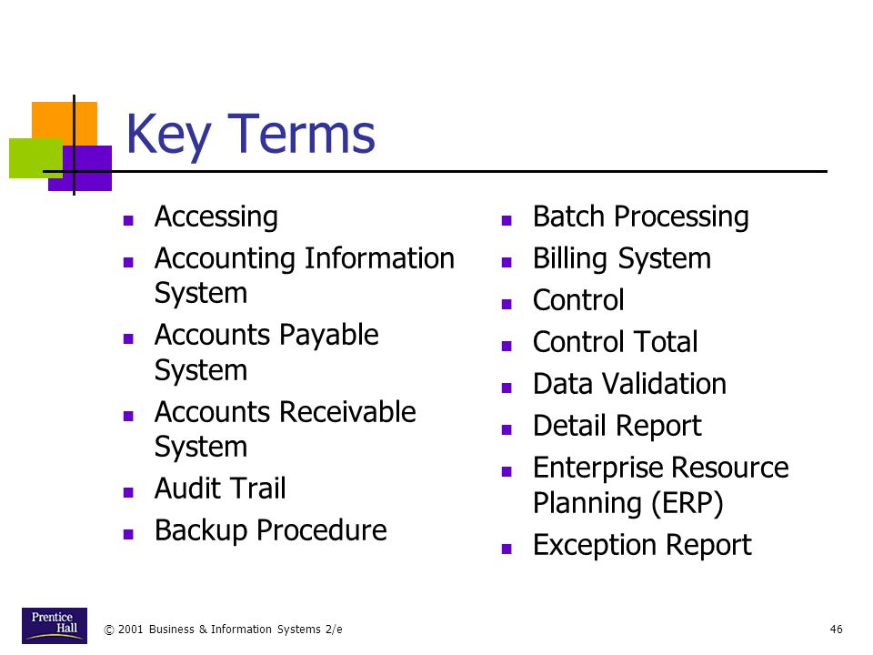 Key Terms Accessing Accounting Information System
