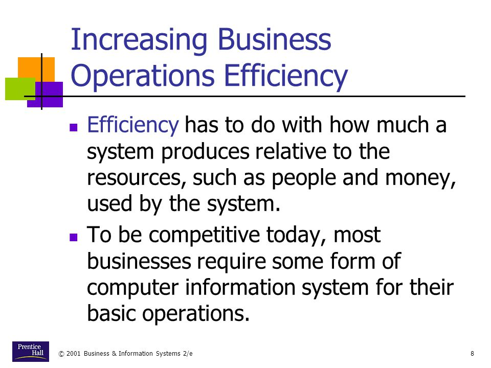 Increasing Business Operations Efficiency