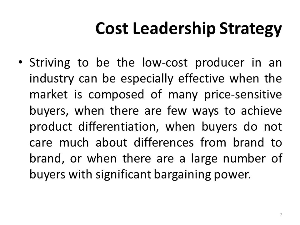 cost leadership business strategy When porter (1 980) introduced his typology of business strategies, he used  laker airways' as an  cost leadership is the typical business strategy pursued.