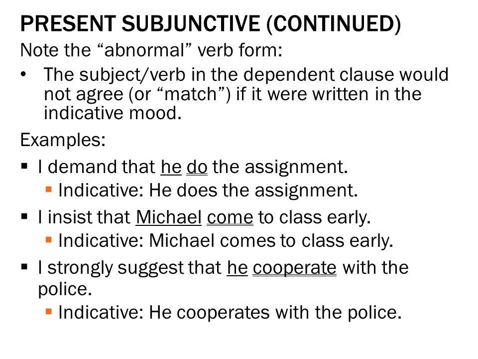 Sentence mood understanding verbs in the indicative, interrogative ...