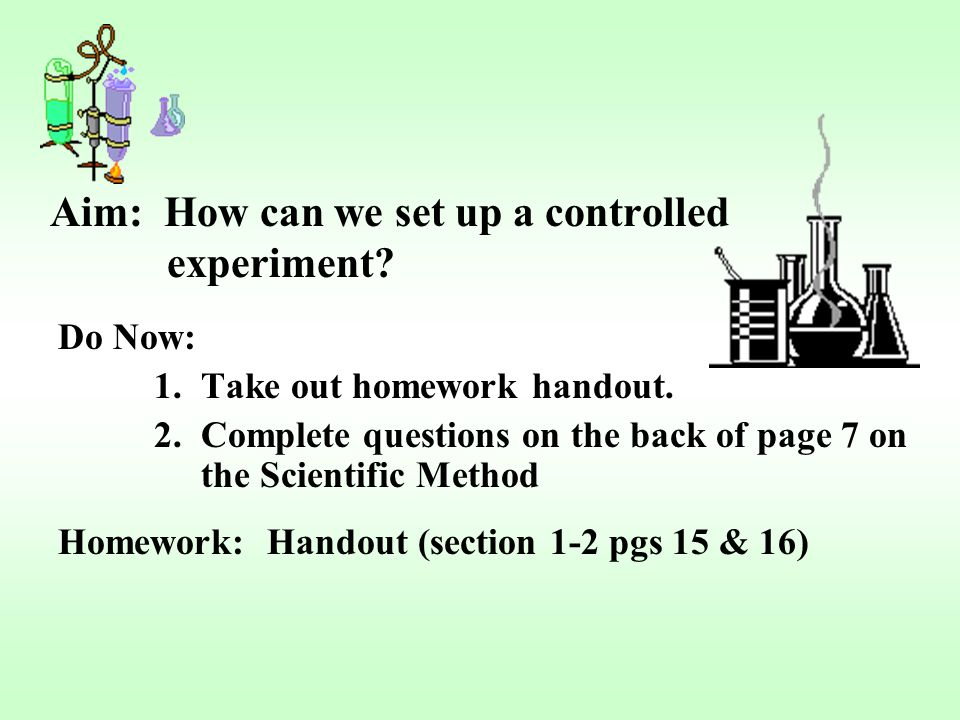 how to write the aim of an experiment