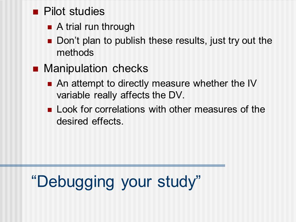 pilot study in research methodology Pilot studies represent a fundamental phase of the research process the purpose of conducting a pilot study is to examine the feasibility of an approach that is intended to be used in a larger scale study the roles and limitations of pilot studies are described here using a clinical trial as an .