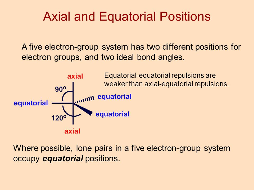 how to draw axial and equatorial