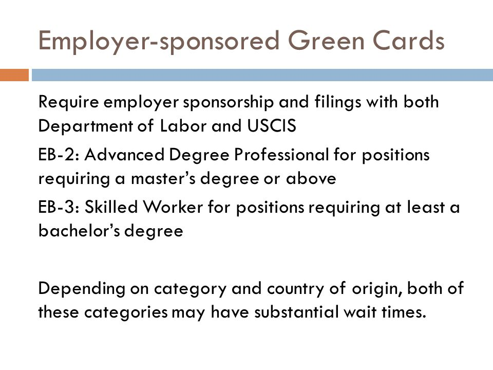 Employer-sponsored Green Cards