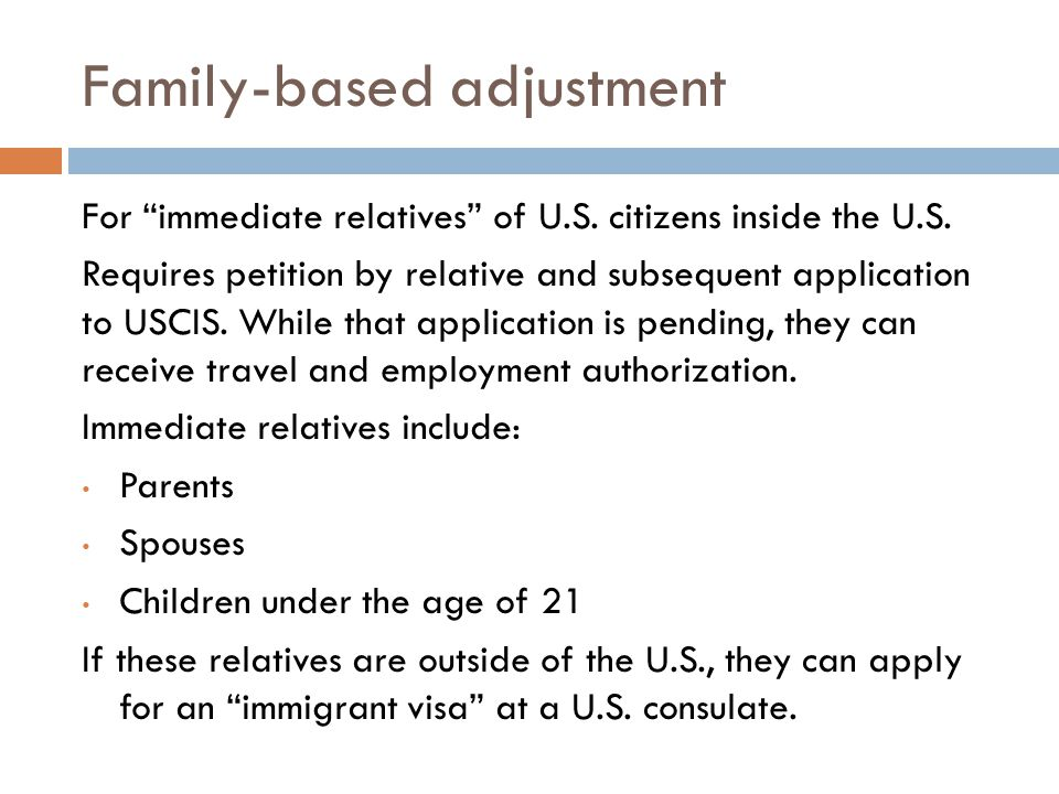 Family-based adjustment