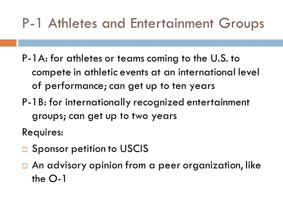 P-1 Athletes and Entertainment Groups
