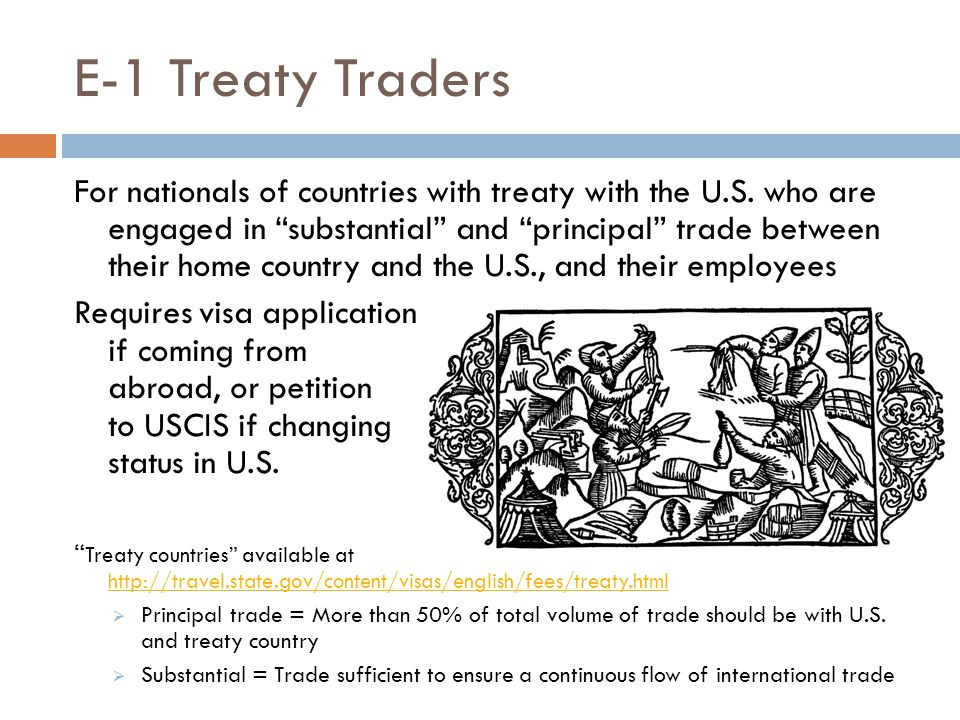 E-1 Treaty Traders