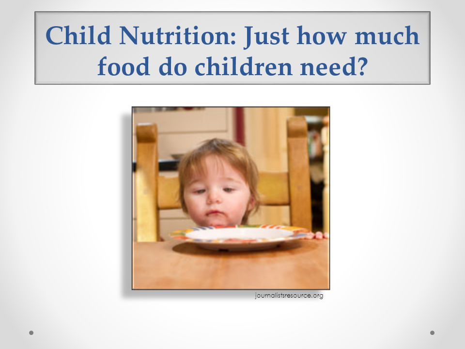 Child Nutrition: Just how much food do children need