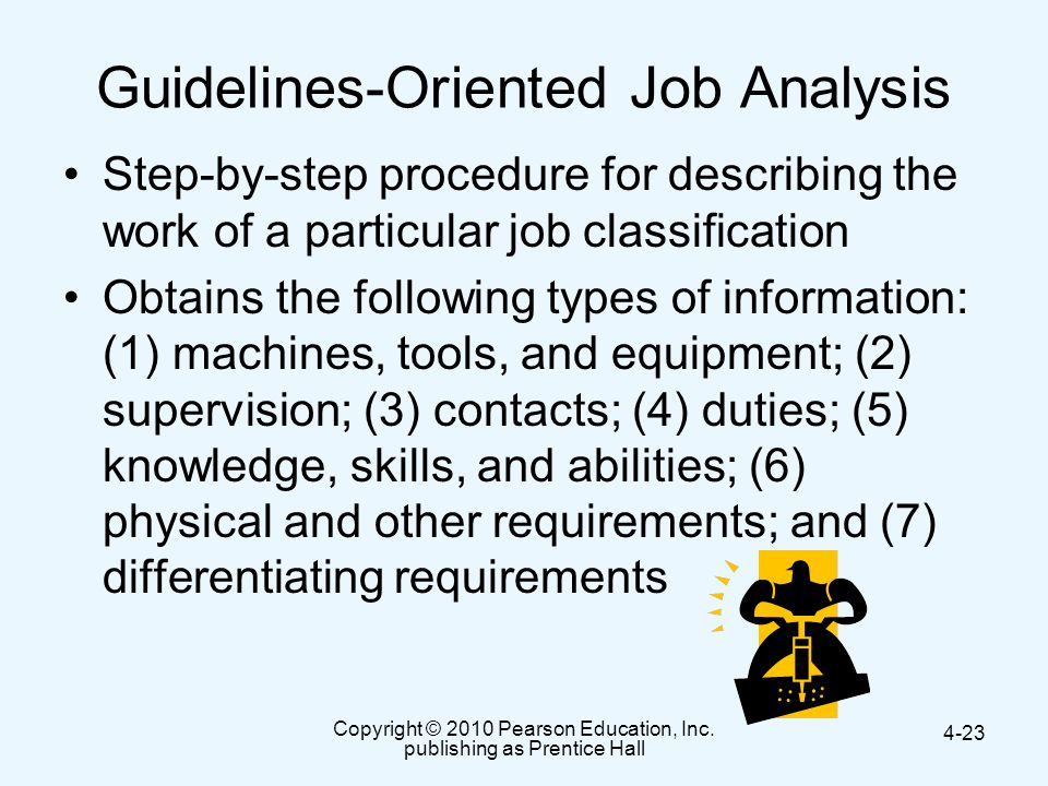 Guidelines-Oriented Job Analysis