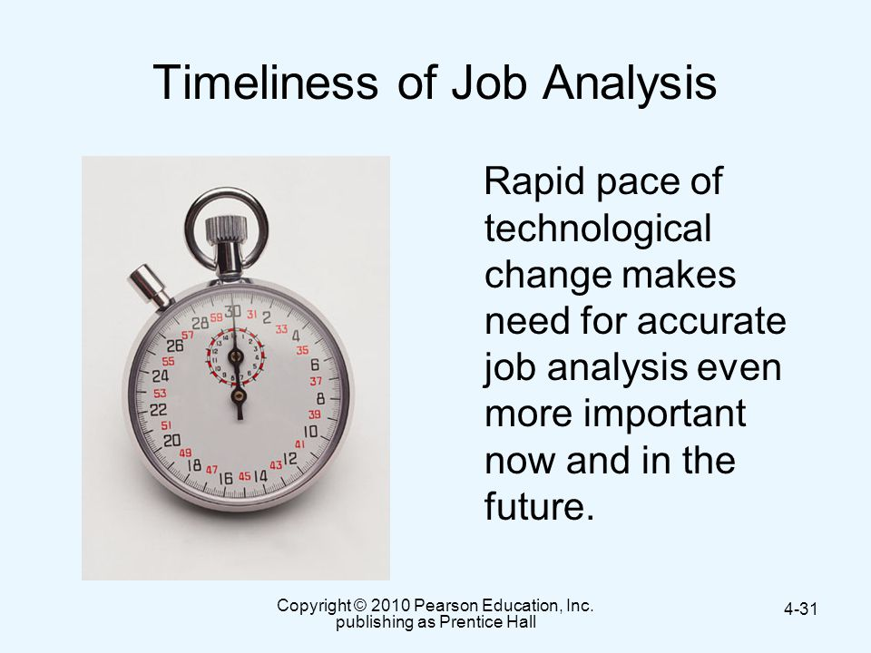 Timeliness of Job Analysis