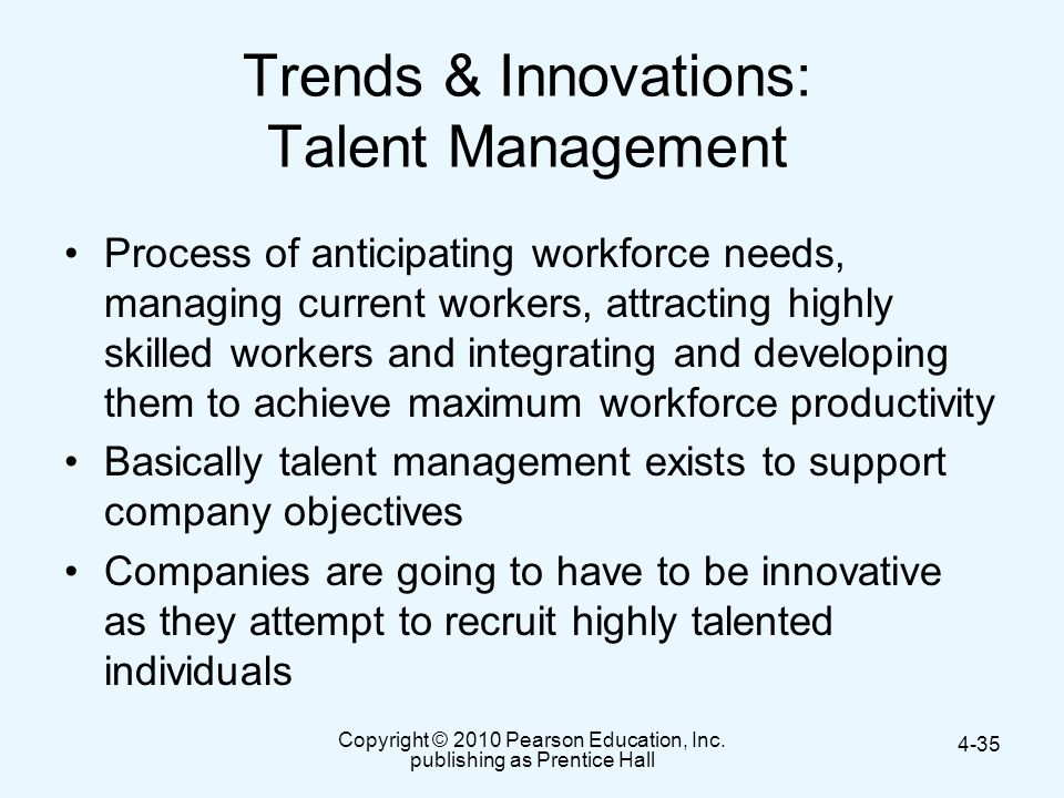Trends & Innovations: Talent Management