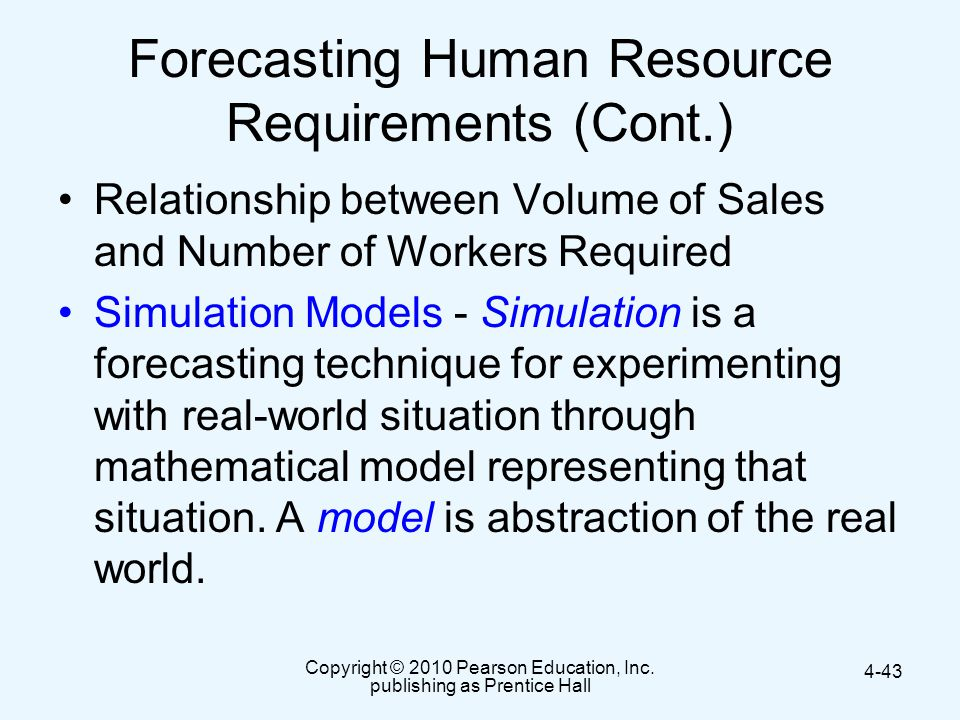 Forecasting Human Resource Requirements (Cont.)