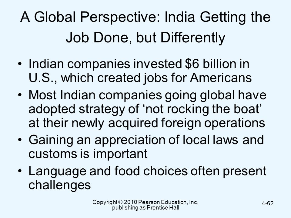 A Global Perspective: India Getting the Job Done, but Differently