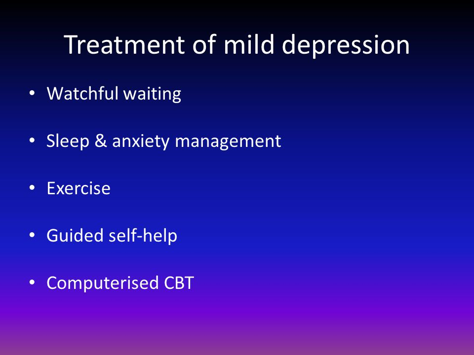 how to help someone with mild depression
