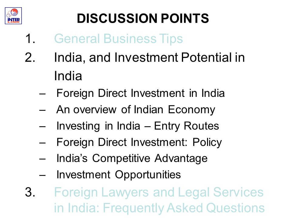 foreign direct investment opportunities in india Invest india is the national investment promotion and facilitation  foreign direct investment (fdi) in india  to the 2000 batch of the indian foreign.