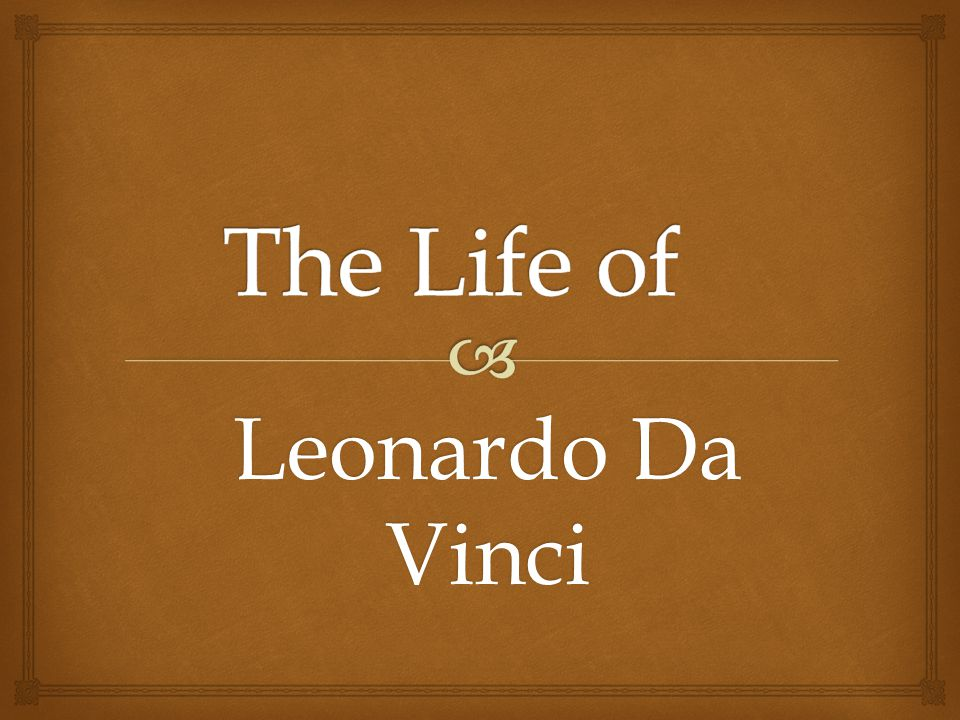 the similar lives that aristotle and leonardo da vinci lived Leonardo da vinci (1452-1519) was a painter, architect, inventor, and student of all things scientific his natural genius crossed so many disciplines that he epitomized the term renaissance.