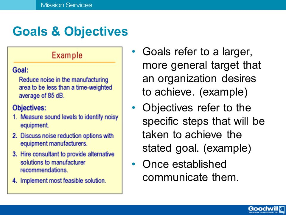 goals and objectives for a security managment organization Goal management is about more than just the annual assigning of goals and  reviewing of employee performance it's about getting every employee to use and .