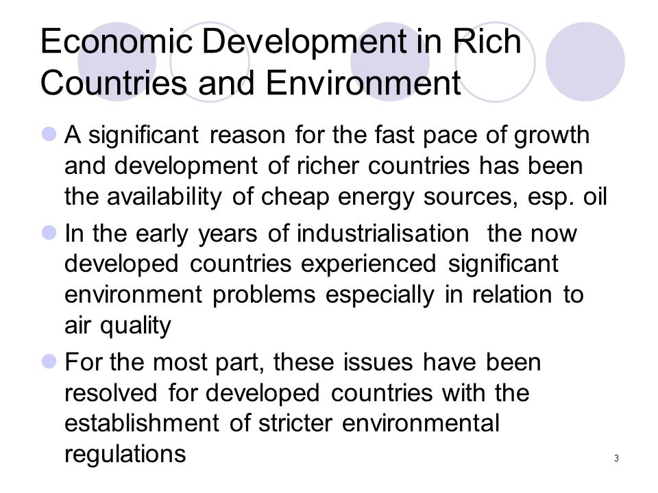 The Economic Growth vs. the Environmental Sustainable Development
