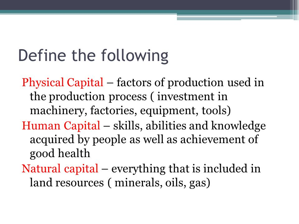 what is human capital? definition and meaning