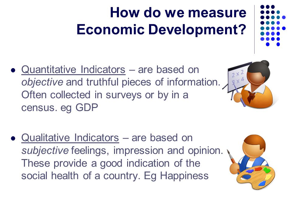How does the United States government measure economic growth?