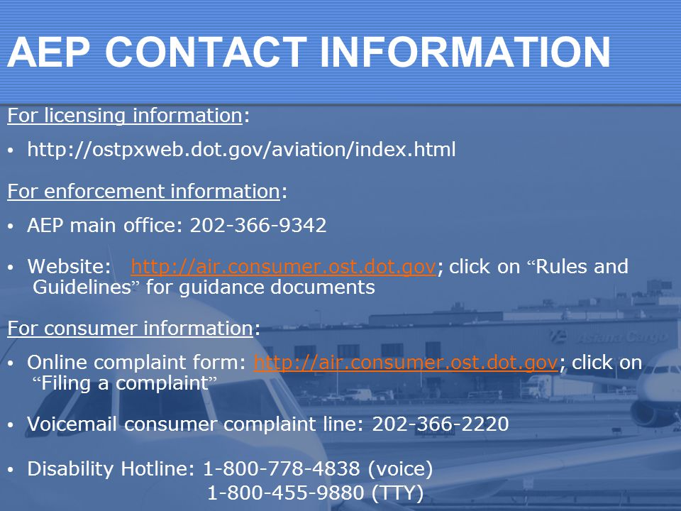 Consumer Protection Of Air Travelers In The Usa  Ppt Download