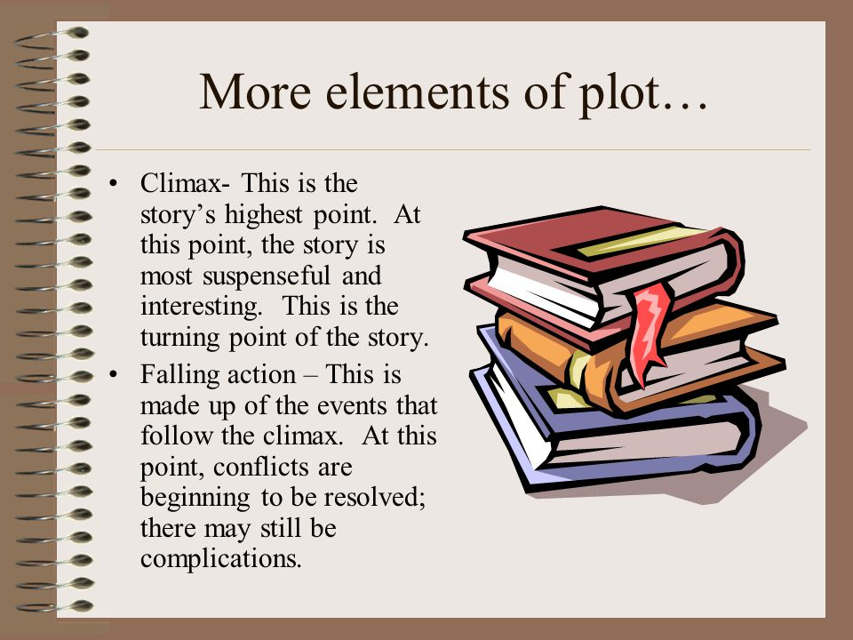 More elements of plot…