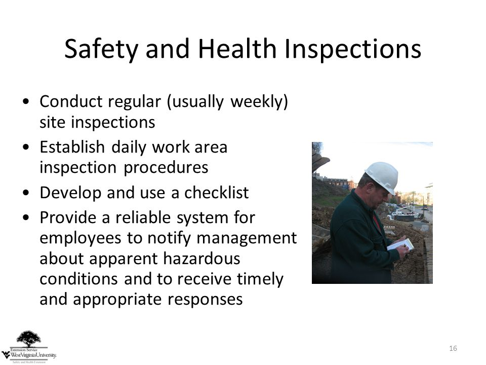 Safety and Health Inspections