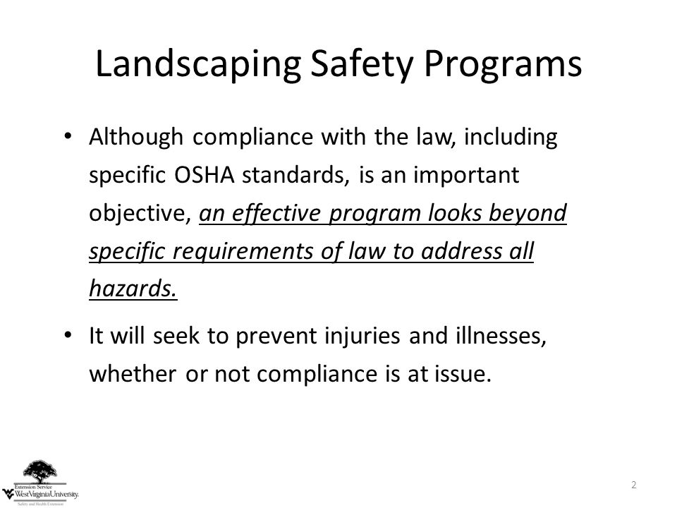 Landscaping Safety Programs