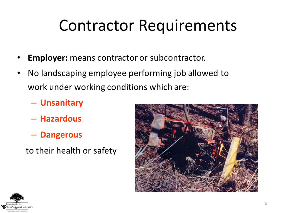 Contractor Requirements