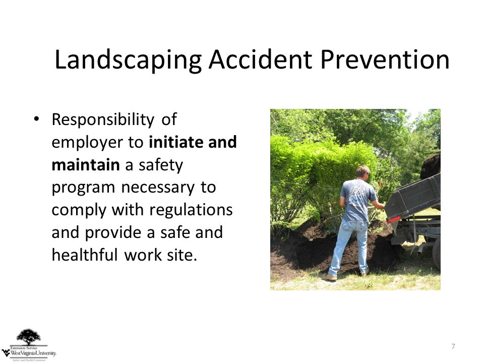 Landscaping Accident Prevention