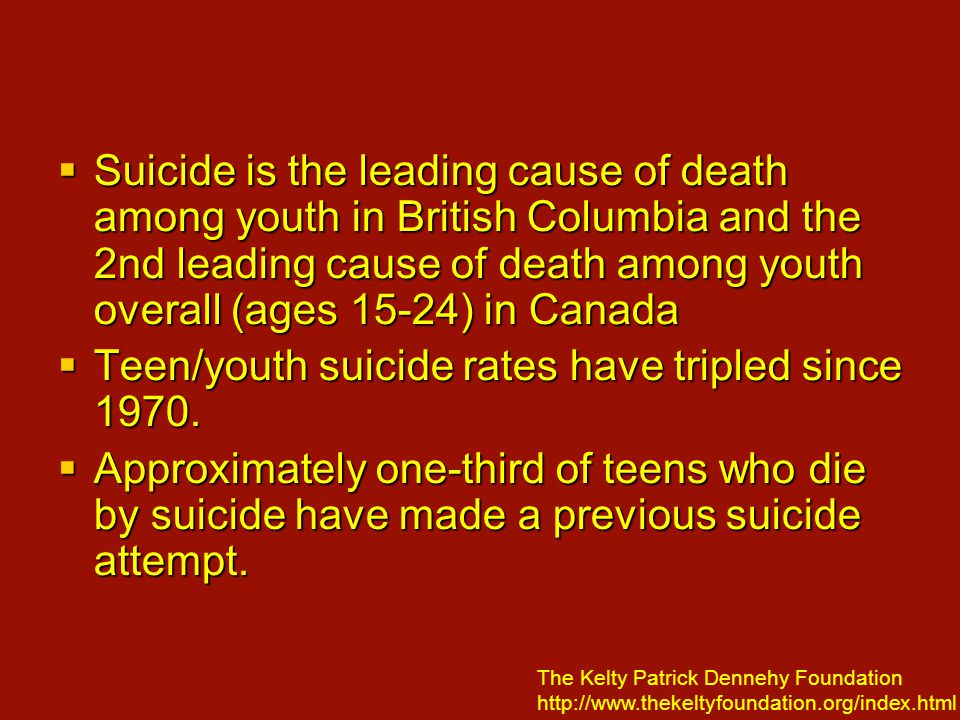 Youth Suicide Statistics
