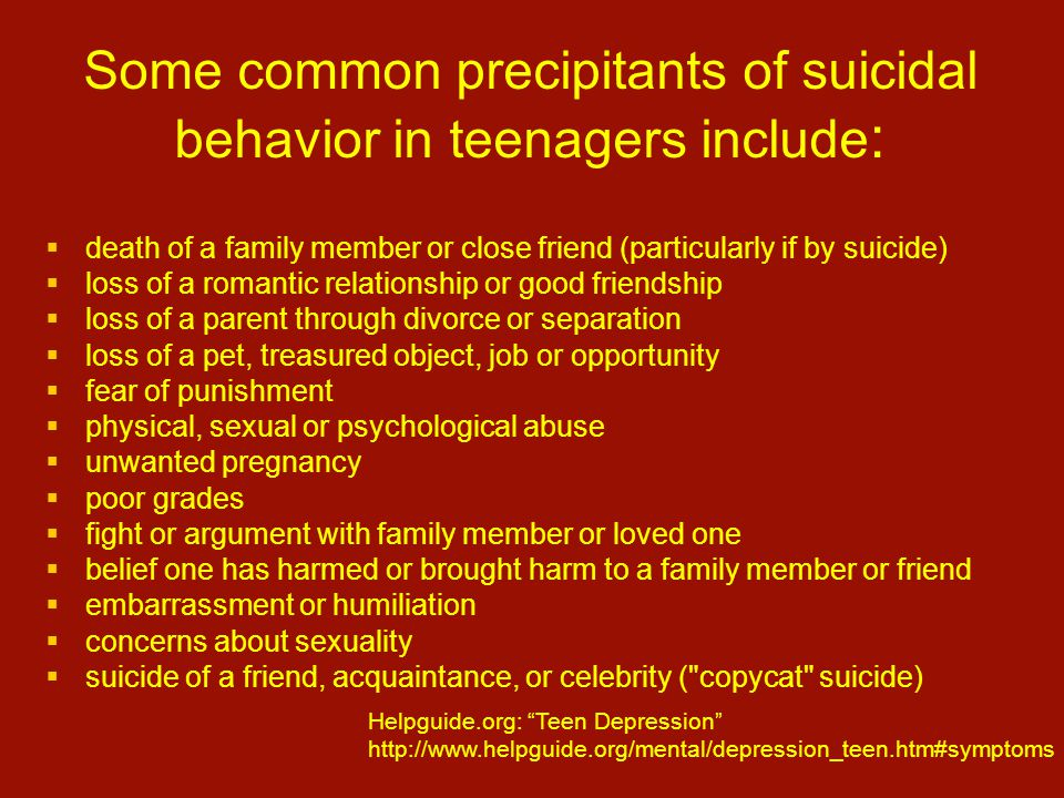Teen Suicide Statistics and Facts