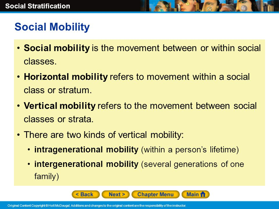 relationship between social stratification and mobility