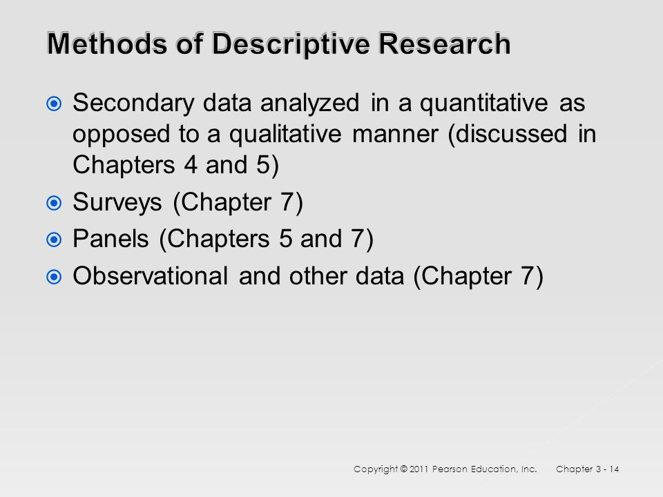 The 3 Basic Types of Descriptive Research Methods