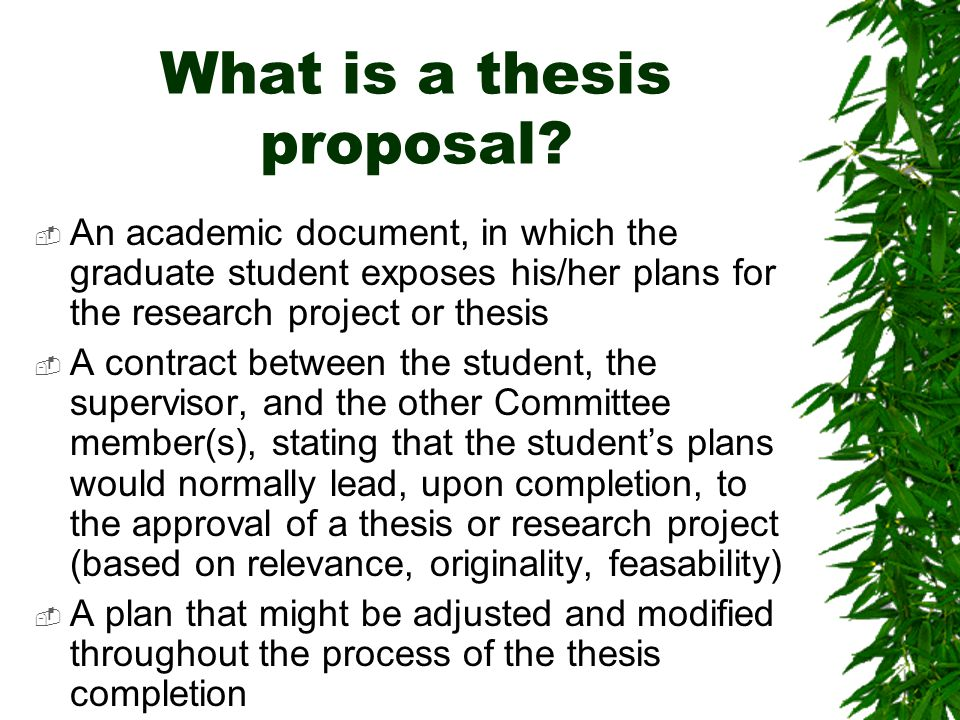 purpose of a thesis committee The purpose of the thesis committee is to provide objective advice and fresh points of view to the student and advisor a lively discussion may be expected at these.