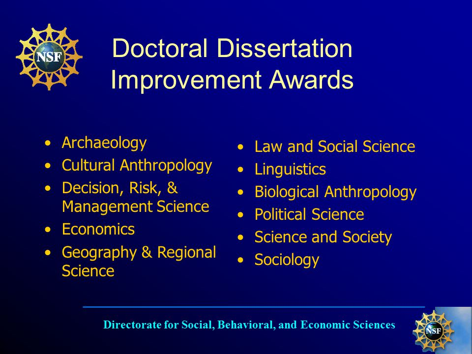 Doctoral dissertation research improvement