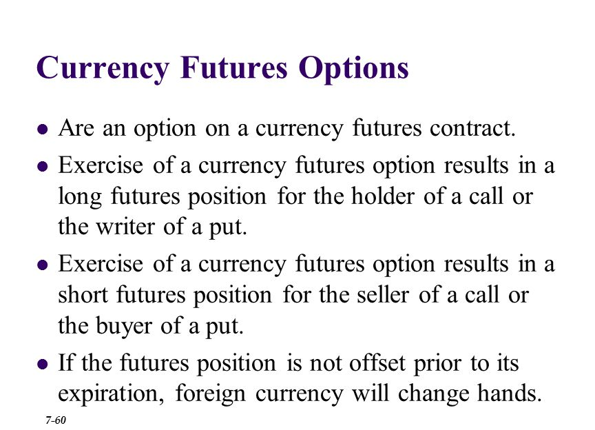 fb chapter on currency derivatives California state university, fullerton 2 chapter 8 currency futures  and options markets 3 chapter overview i futures contracts.