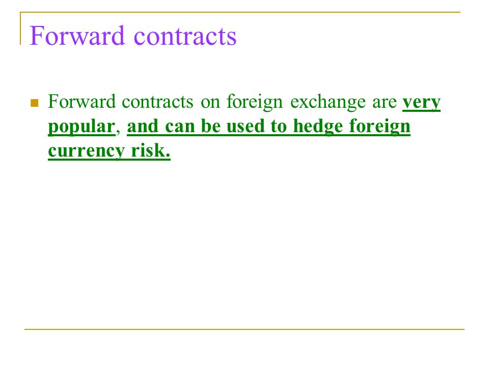 Fx options forward extra