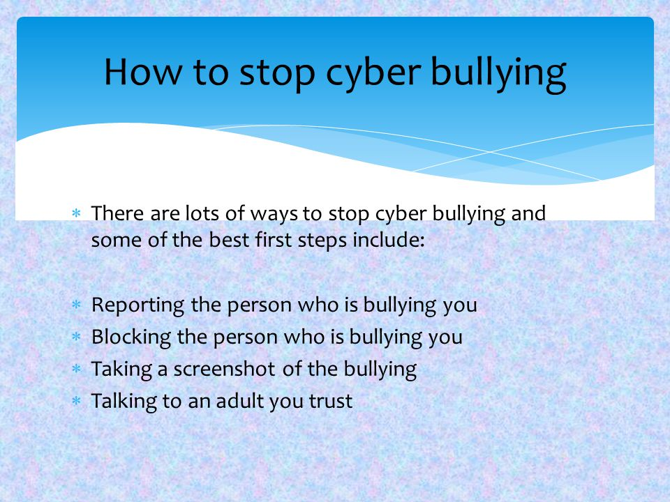 cyber bullying exploratory essay Whenever you experience bullying  exploratory essay bullying mental bullying like cyber bullying can leave more scars in depth.
