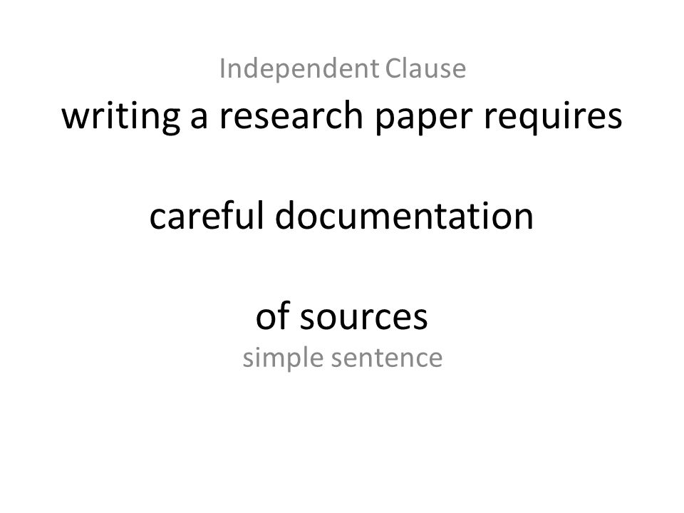 writing a research paper requires careful documentation of sources
